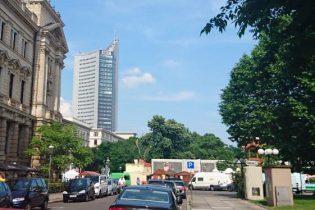 Innenstadt Leipzig mit dem Uni-Riesen