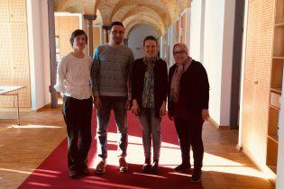 Gäste des Balaydia-Austauschprojektes im complan-Büro Potsdam